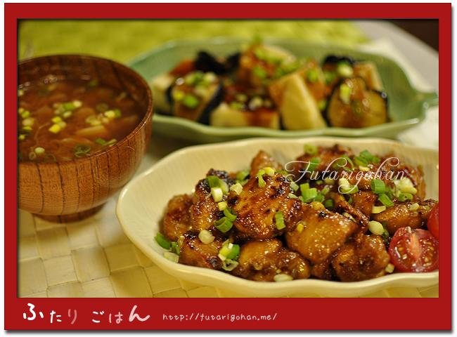 鶏のマヨポン炒め&あんかけ揚げ出し高野豆腐