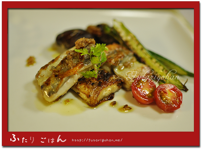 太刀魚のソテー・アンチョビガーリックオイル