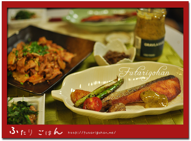 秋鮭・イケアサーモンソース&豚キムチ