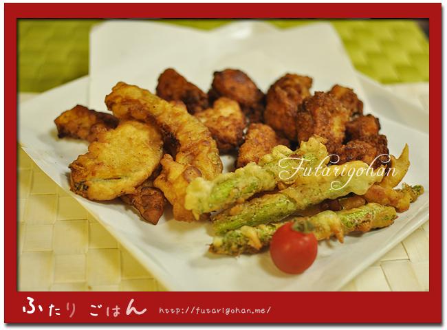 我が家の味の鶏唐揚げ&野菜のフリッター
