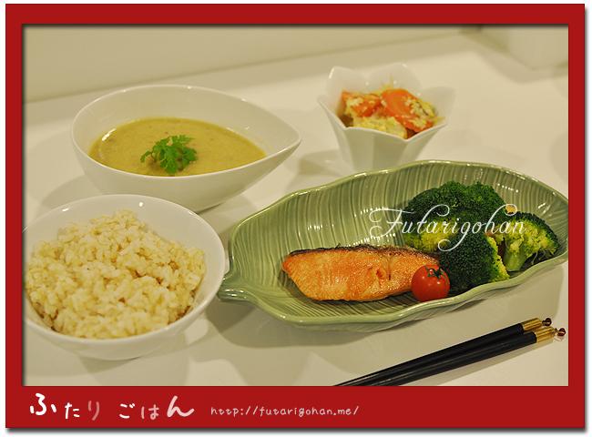 焼き鮭&サツマイモの豆乳ポタージュ