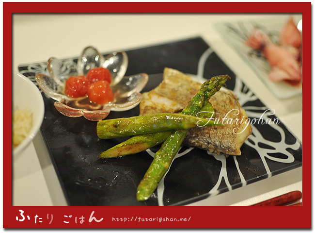 太刀魚とアスパラガスのバターソテー