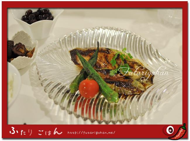 鰤と茄子のソテー バルサミコソース