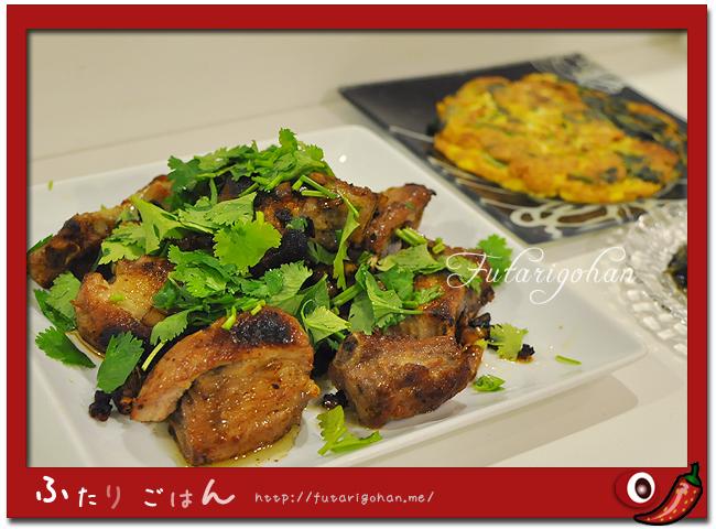 豚スペアリブのレモングラス風味&タイ風オムレツ